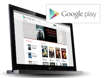 Google PLAY - Locations de films et télé-séries via internet