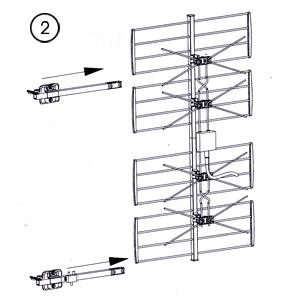 Assembler antenne tv hd multi directionnelle for Monter une antenne tv