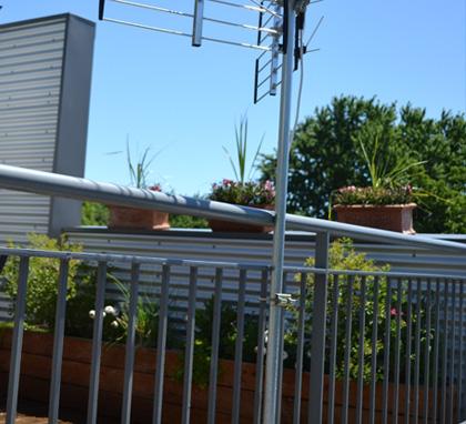 installation de toit d'antenne hdtv