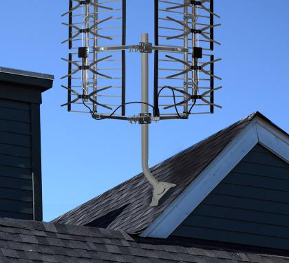 installation d 39 antenne t l hd sur toit mur ou balcon. Black Bedroom Furniture Sets. Home Design Ideas