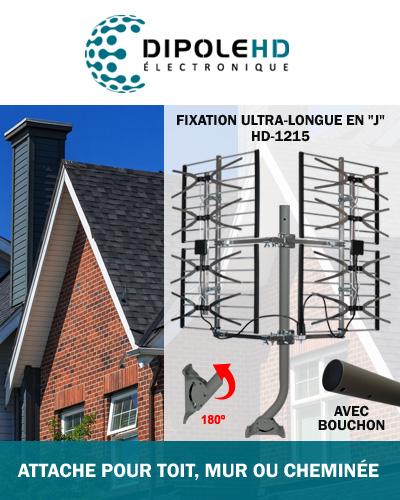 installer sur toit, mur ou balcon un antenne télé hd
