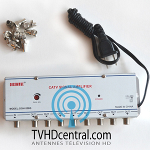 pr amplificateur et r partiteur amplificateur de signal hd d 39 antenne tv. Black Bedroom Furniture Sets. Home Design Ideas